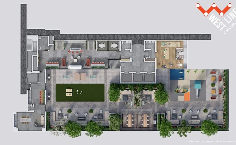 WestLine Condos amenity plan rooftop