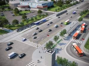 Rendering of Arte Condos LRT aerial
