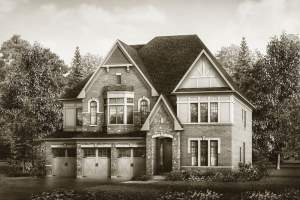 Exterior rendering of a home at McMichael Estates