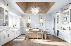 Interior rendering of a home at McMichael Estates kitchen