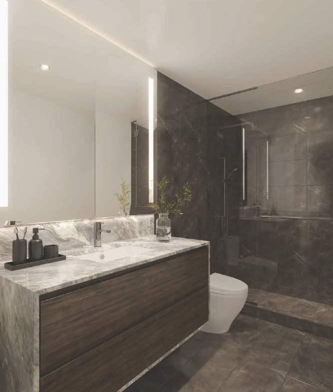 Rendering of Cielo Condos interior suite bathroom
