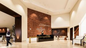 Rendering of The Residences On Owen interior lobby