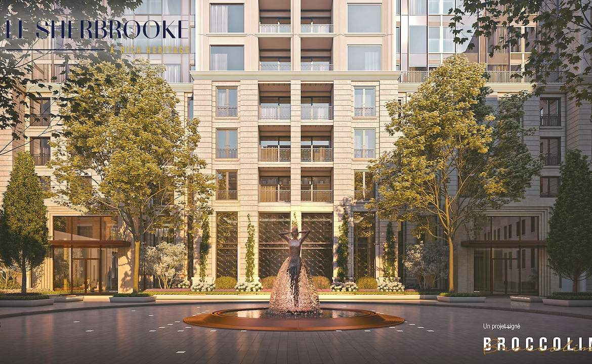 Rendering of Le Sherbrooke Condos courtyard
