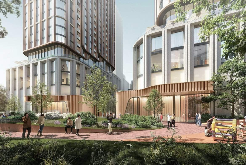Rendering of 475 Yonge Street Condos exterior outdoor space