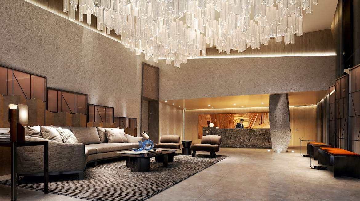 Rendering of Westerly Condos lobby