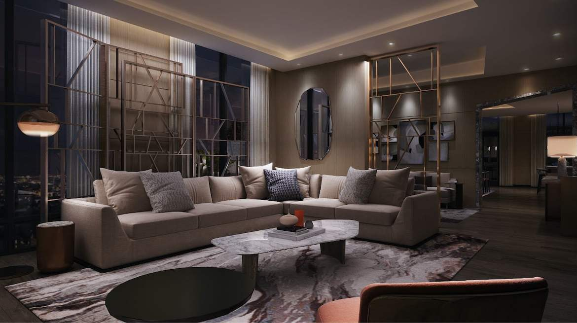 Rendering of Westerly Condos party room lounge