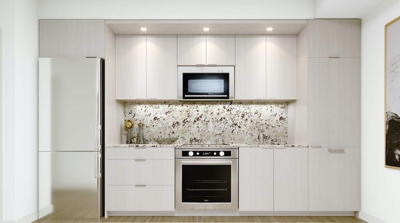 Rendering of Westerly Condos suite interior kitchen