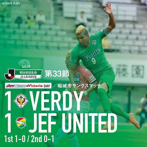 【Result】J2っぽい試合~第33節vsジェフユナイテッド千葉(H)~