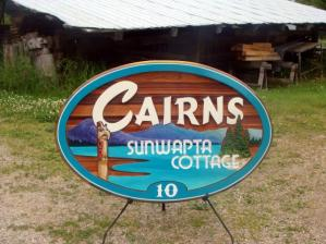 residential sandblasted cedar sign