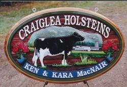 Dairy Farm sanblasted cedar sign