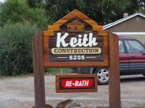 Business sign for keith contruction Vernon Bc.