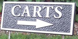 bronze and aluminum plaques for golf courses,homes,schools,hospitals,parks,wayfinding,Condor signs Vernon BC,