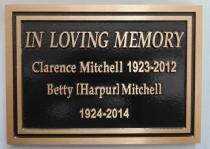 Bronze memorial plaque custom design and made of bronze