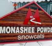 custom cedar sandblasted business sign