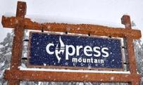 Cyress Mountain,Cypress Bowl,Ski resort,first by Canadian olymic medal winner,big sanblasted cedar sign by Condor signs