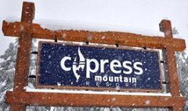 Cyress Mountain,Cypress Bowl,Ski resort,first by Canadian olymic medal winner,big sanblasted cedar sign by Condor signs