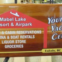 mabel Mabel lake ad board mabel lake.