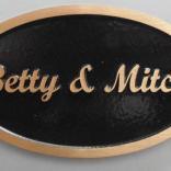 Custom bronze plaque supplied by Condor signs Vernon BC.