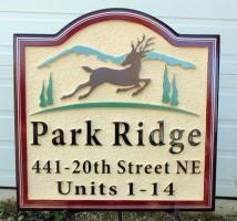 sandblasted high density urethane sign for housing development by condor signs Vernon BC