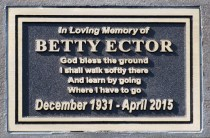 Memorial plaques in cast bronze for a park bench supplied by Condor Signs Vernon BC
