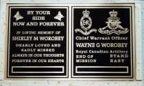 Worobey custom metal headstone/memorial plaque in bronze by Condors signs Vernon BC