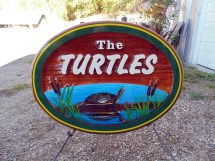 This artist painted,handcrafted and sandblasted cedar sign shows the high level of detail Condor Signs put into every sign.