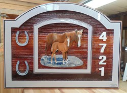 cedar sandblasted sign for ranch farm or acreage in Armstrong BC.Condor Signs make many custom signs for any purpose.