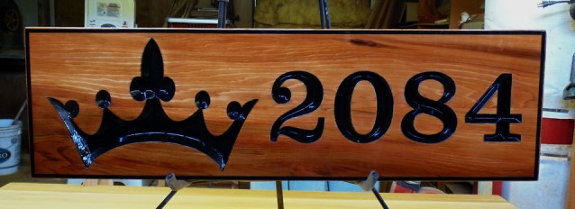 V router cedar sign finished to last years out of doors