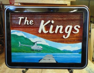 Weddings signs are a great way to give a lasting gift.This one was created by Condor signs Vernon BC