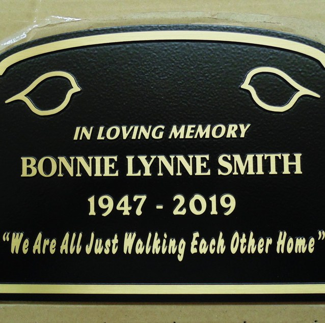 Bronze,metal grave markers.park benches and memorial plaques of all kinds.We drop ship anywhere.