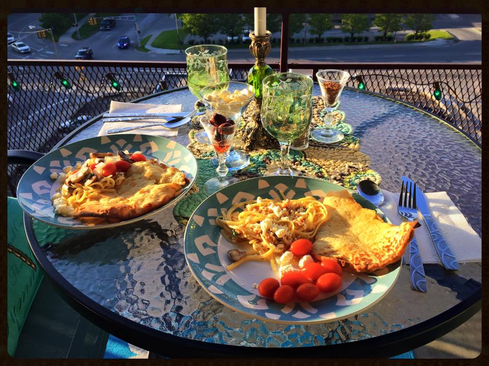 Dinner On The Balcony