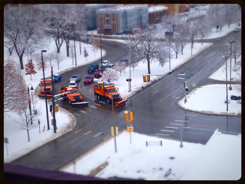 Winter Scene from The Balcony at The Condos At 3000 Farnam - 2
