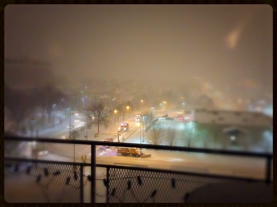 View of Blizzard from Condos at 3000 Farnam, Omaha, NE