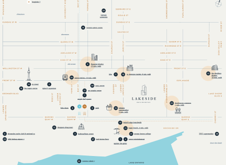 Lakeside Condos Map