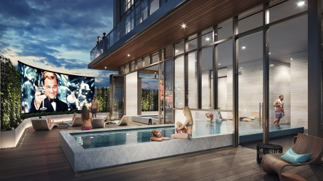Central Condos pool outdoors