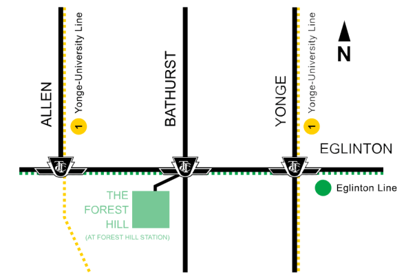 the forest hill map