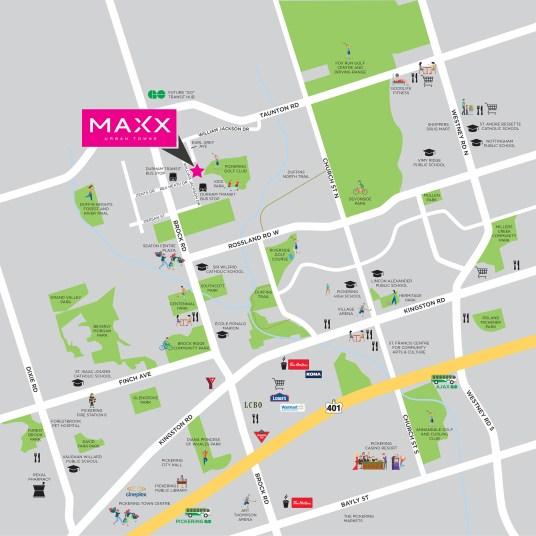 Maxx Urban Towns Map