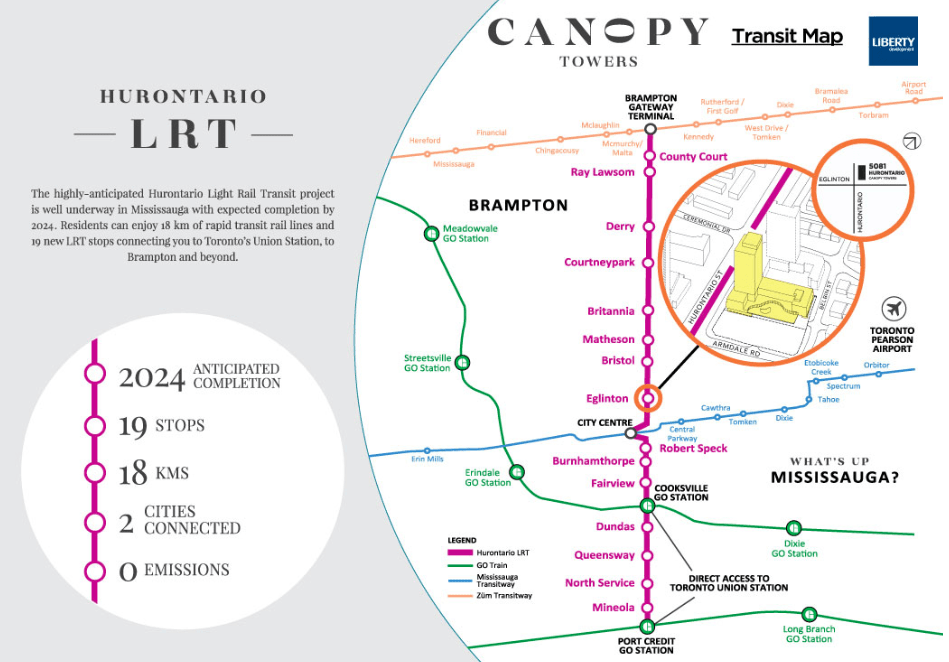 Canopy Towers Transit Map