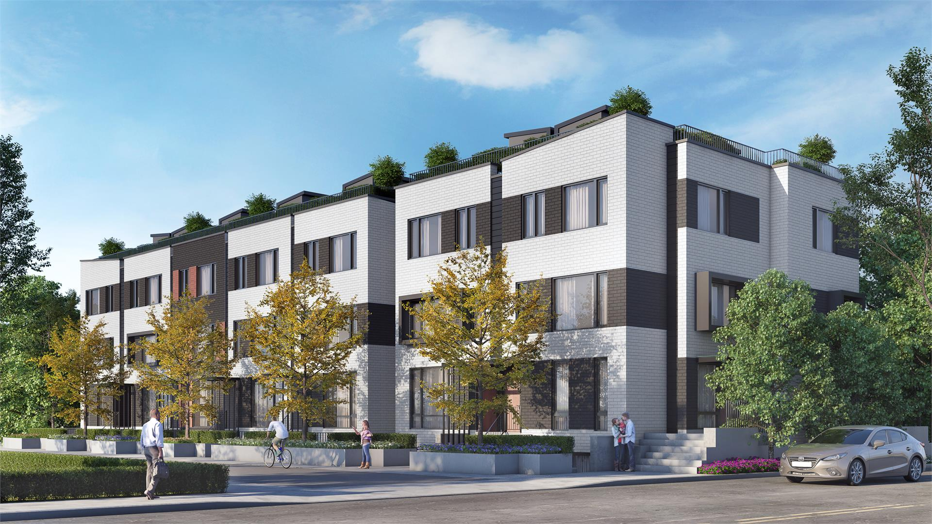 Reunion Crossing Urban Towns Exterior Rendering