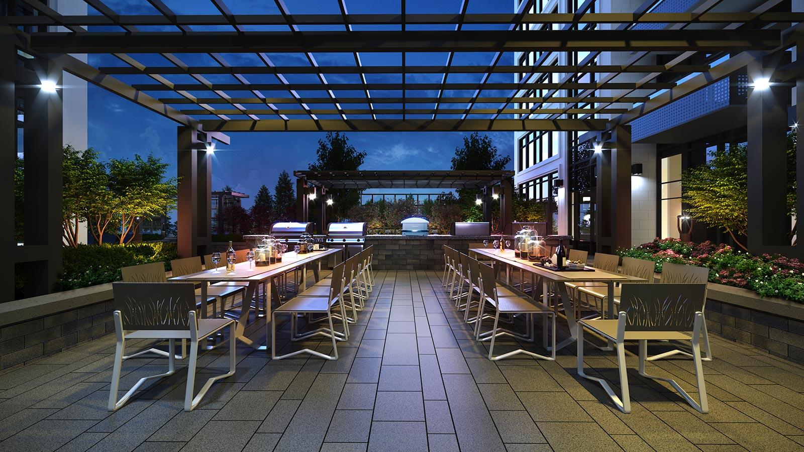 Evermore Outdoor Seating/BBQ Area