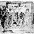 Cristo crocefisso con San Gerolamo, Santa Maria Maddalena, una santa monaca, San Giovanni e Ambrosino da Longhignano, Sant'Antonio abate, San Cristoforo