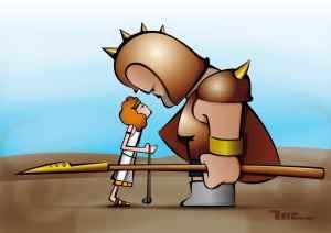 As obras de Davi e o rei Saul
