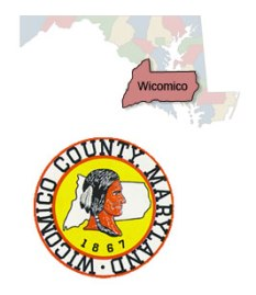 wicomico seal and map