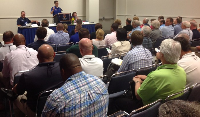DNR and MDE Secretaries gave brief remarks then opened themselves to questions from a full and eager audience.