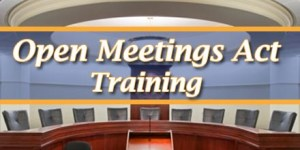 Still Need Open Meetings Act Training? Clear Your Calendar for April 12