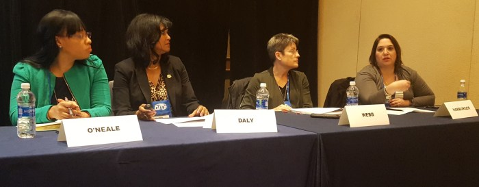 From left to right: Shalita O'Neale, Dina Daly, Linda Webb, Deborah Harburger