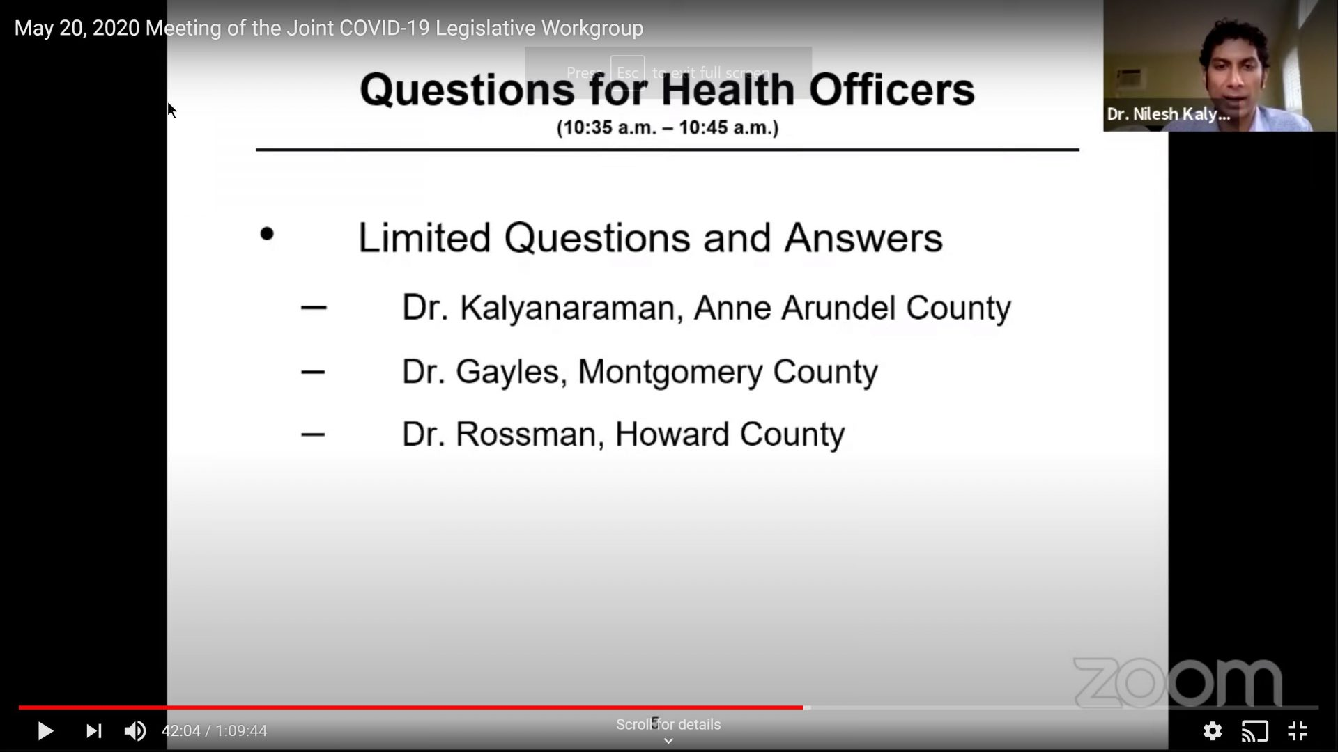 County Health Officers Brief Joint COVID-19 Workgroup