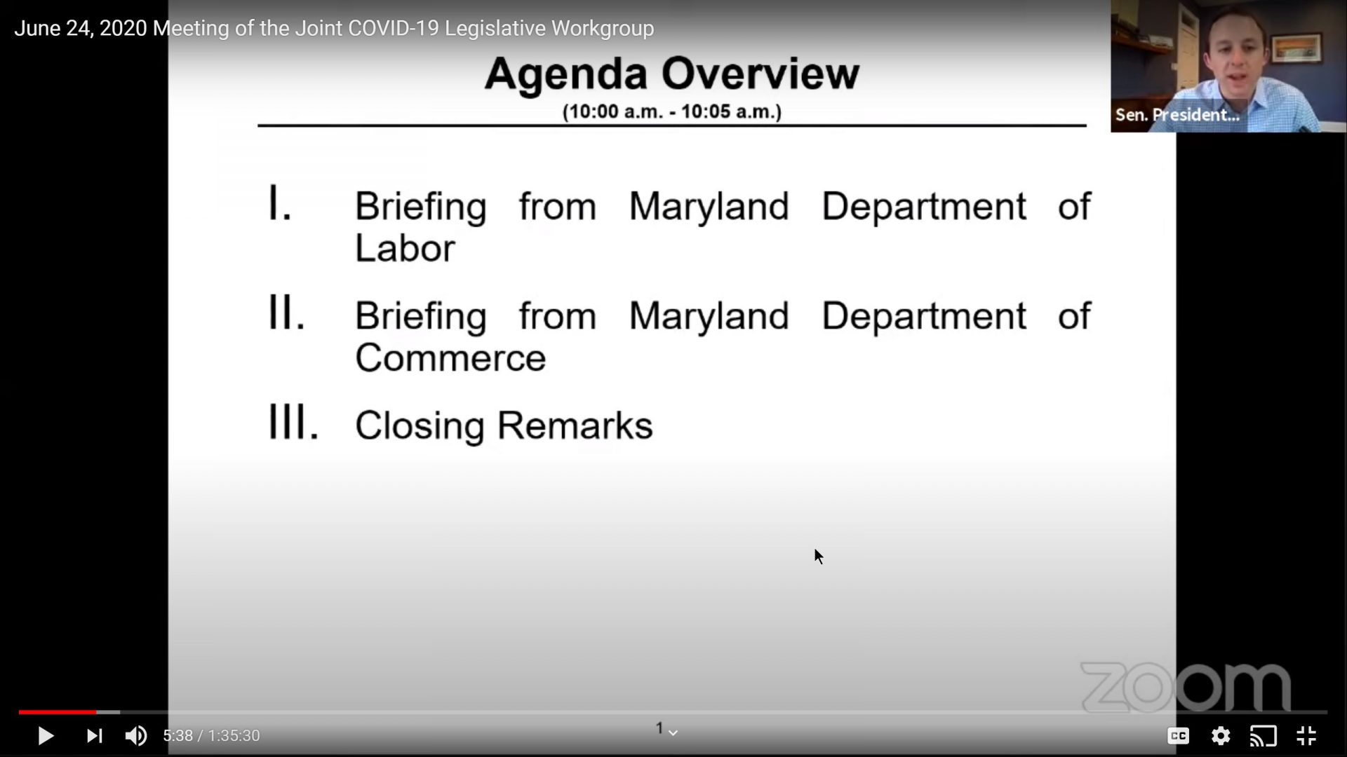 Secretaries of Labor and Commerce Brief Joint COVID-19 Workgroup