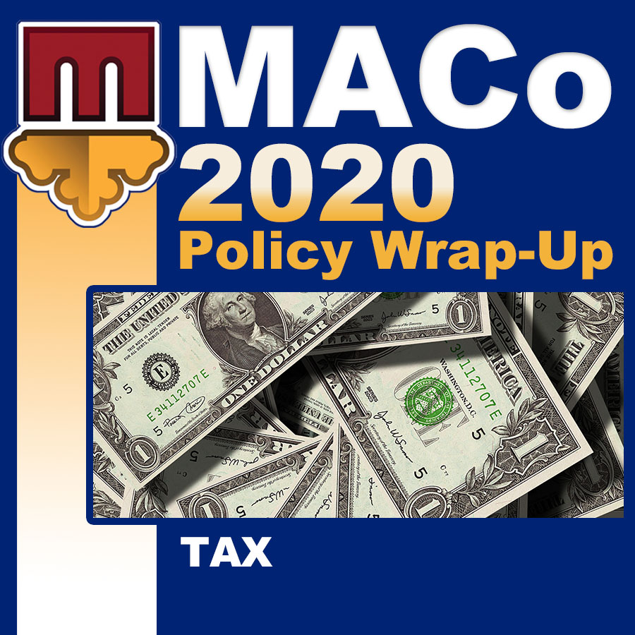 2020 End of Session Wrap-Up: Taxes and Revenues
