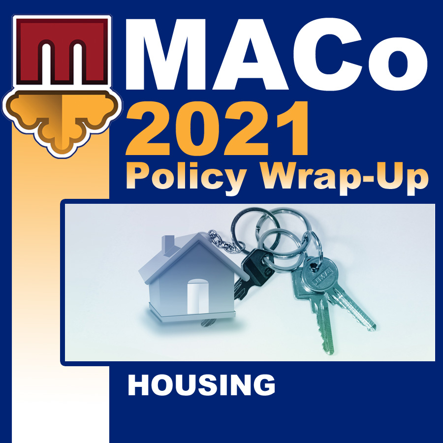 2021 End of Session Wrap-Up: Housing and Community Development